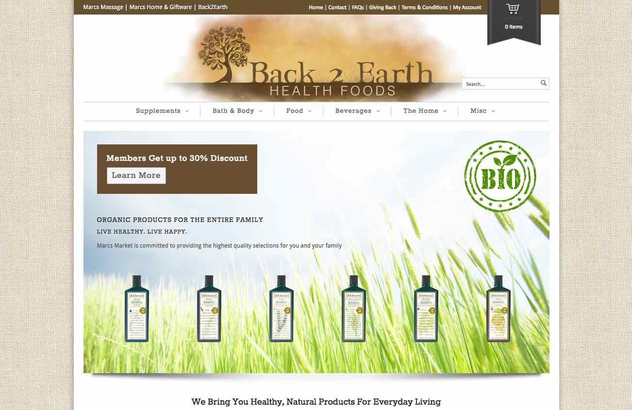 Back 2 Earth Health Foods