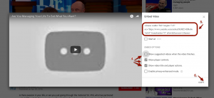 How to Embed a Youtube Video - Step 2
