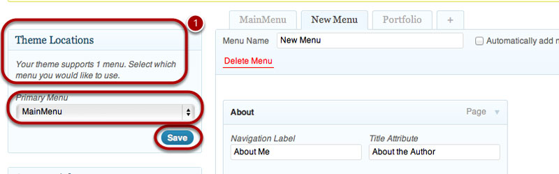 How To Create a Menu In WordPress - Step 5