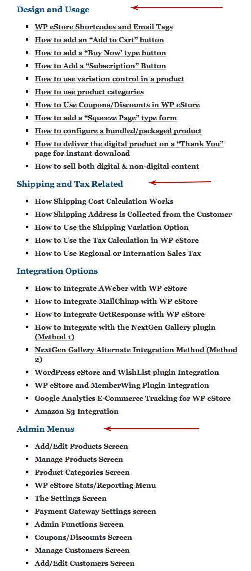 WP eStore Documentation
