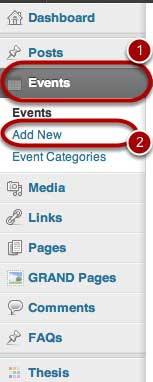 How to Add a New Event using 'The Event' calendar plugin