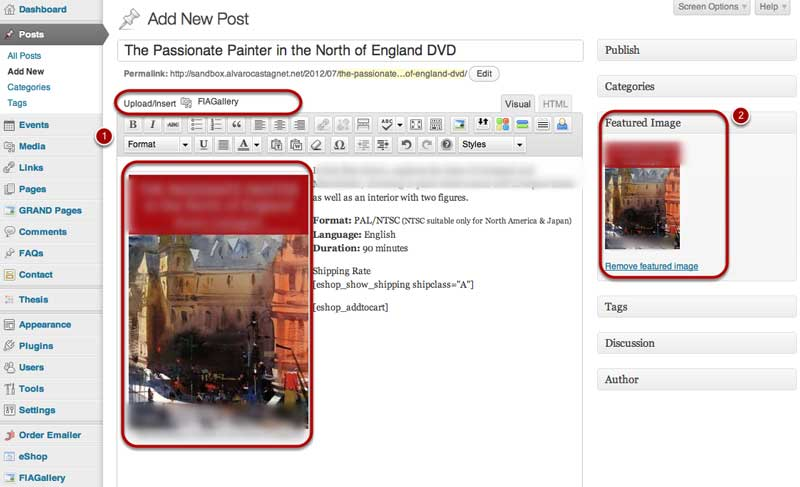 Step2 Add The Product Image for the new eShop product