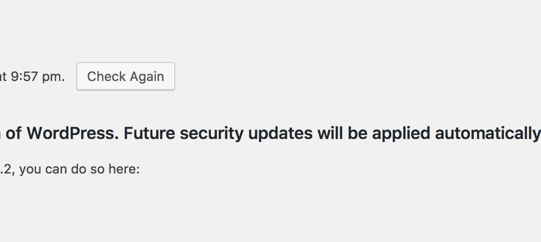 WordPress Security Alert – Upgrade Immediately