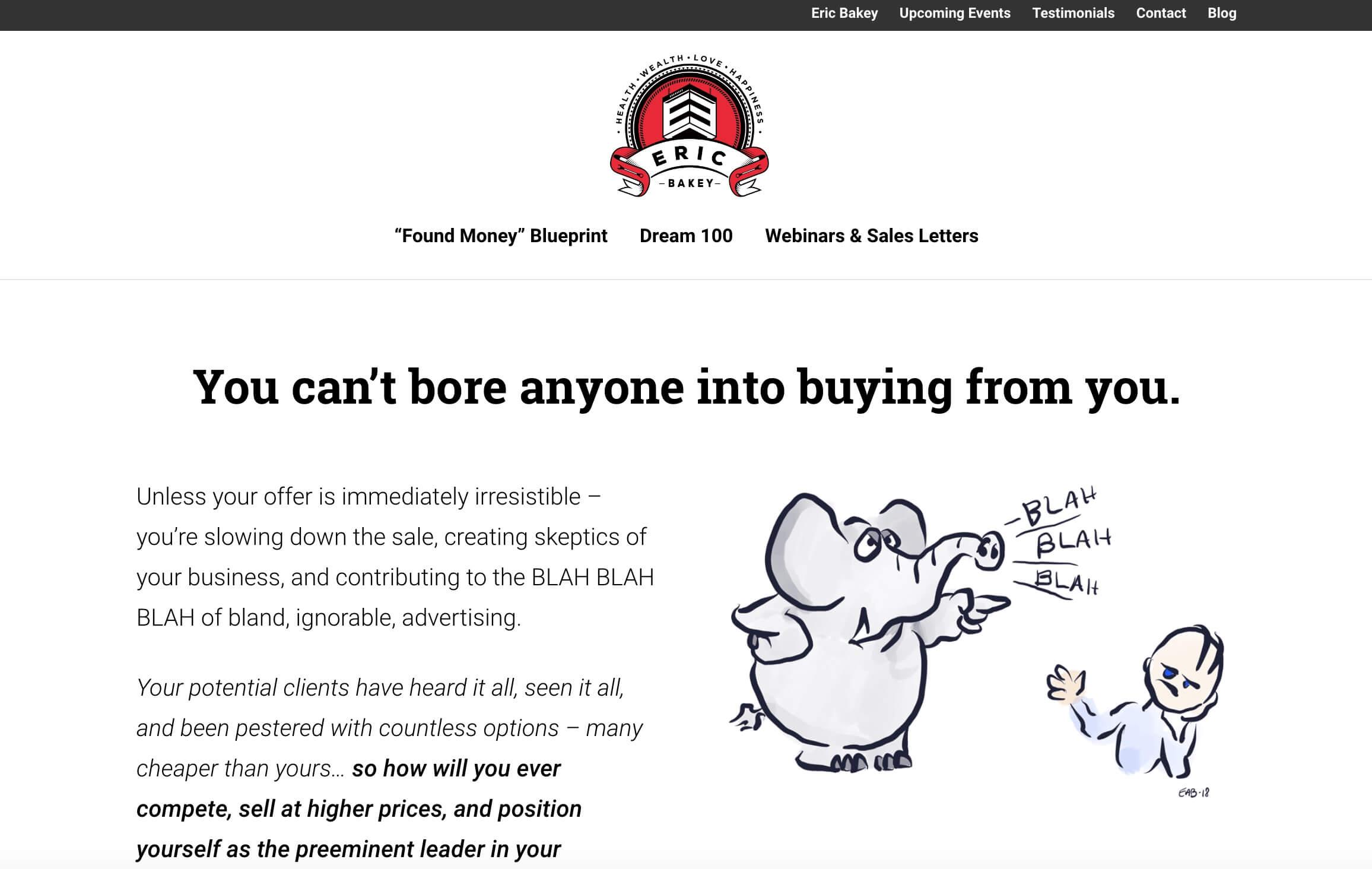 Eric Bakey Website